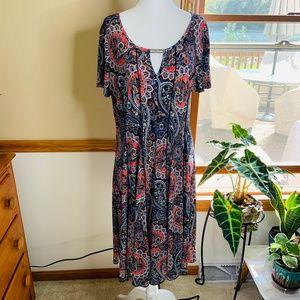 Sami & Jo Dress Paisley Size XL